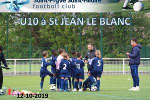 12 Octobre 2019<br/>Tournoi U10 (1) à St JEAN LE BLANC