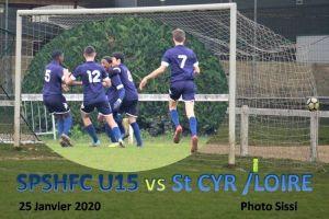25 Janvier 2020<br/>SPSHFC U 15 ( R1) vs St CYR SUR LOIRE