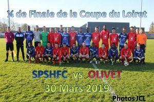 30 Mars 2019<br/>Coupe du Loiret seniors SPSHFC - OLIVET