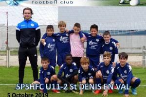 5 Octobre 2019<br/>Les U11-2 à Saint Denis en Val