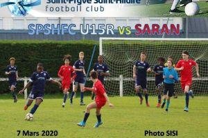 8 Mars 2020<br/>SPSHFC U15R vs SARAN