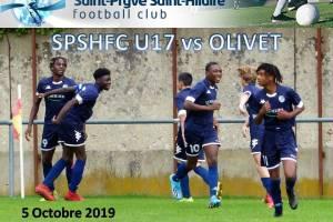 5 Octobre 2019<br/>SPSHFC U17 vs OLIVET